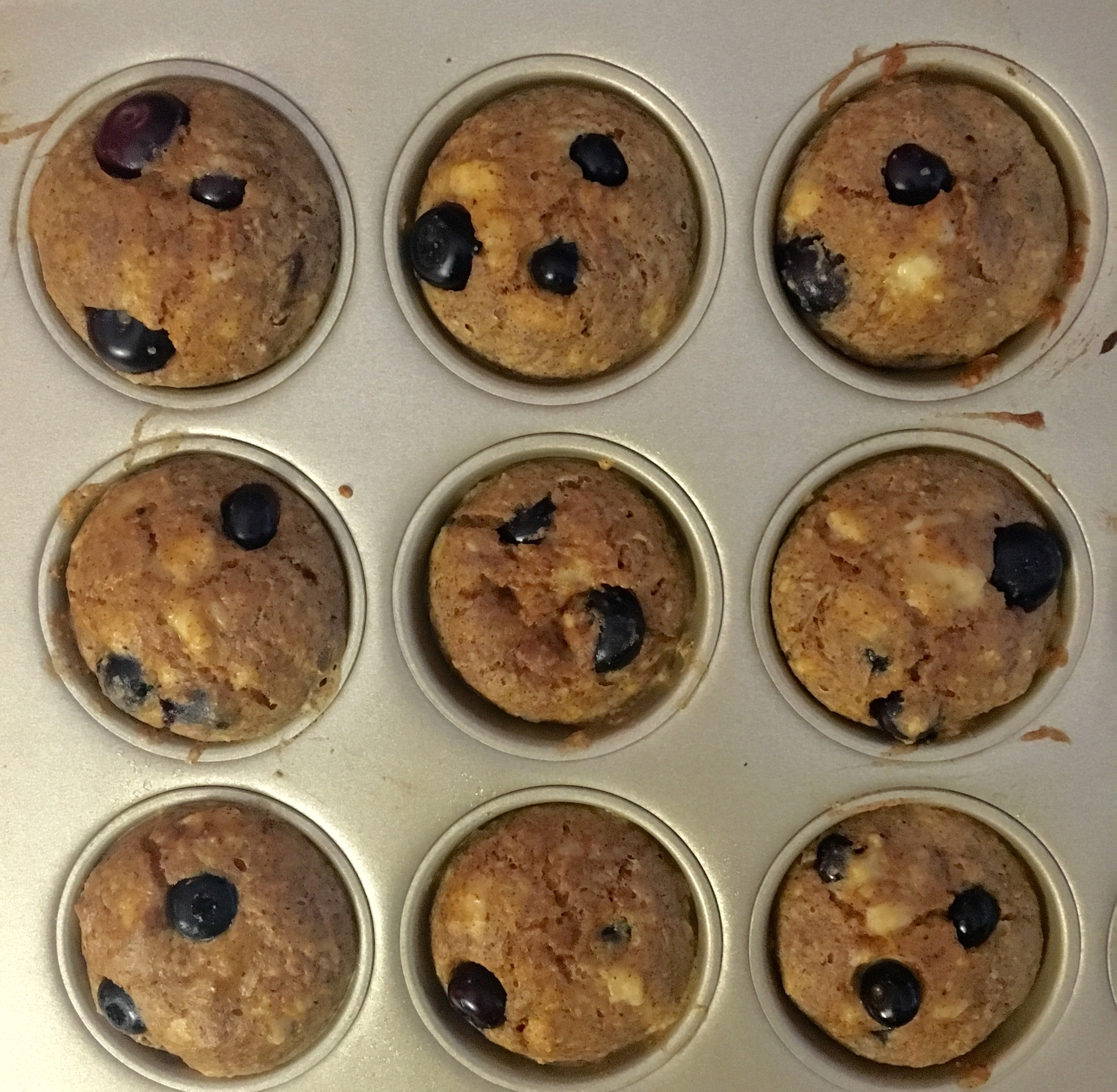blueberry banana muffins