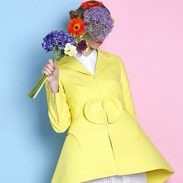 #fashion #art #beauty #design #yellow #pastels #pink #blue #backdrop #flowers #inspiration #summer #beauy #hair #makeup #lightness #enjoy