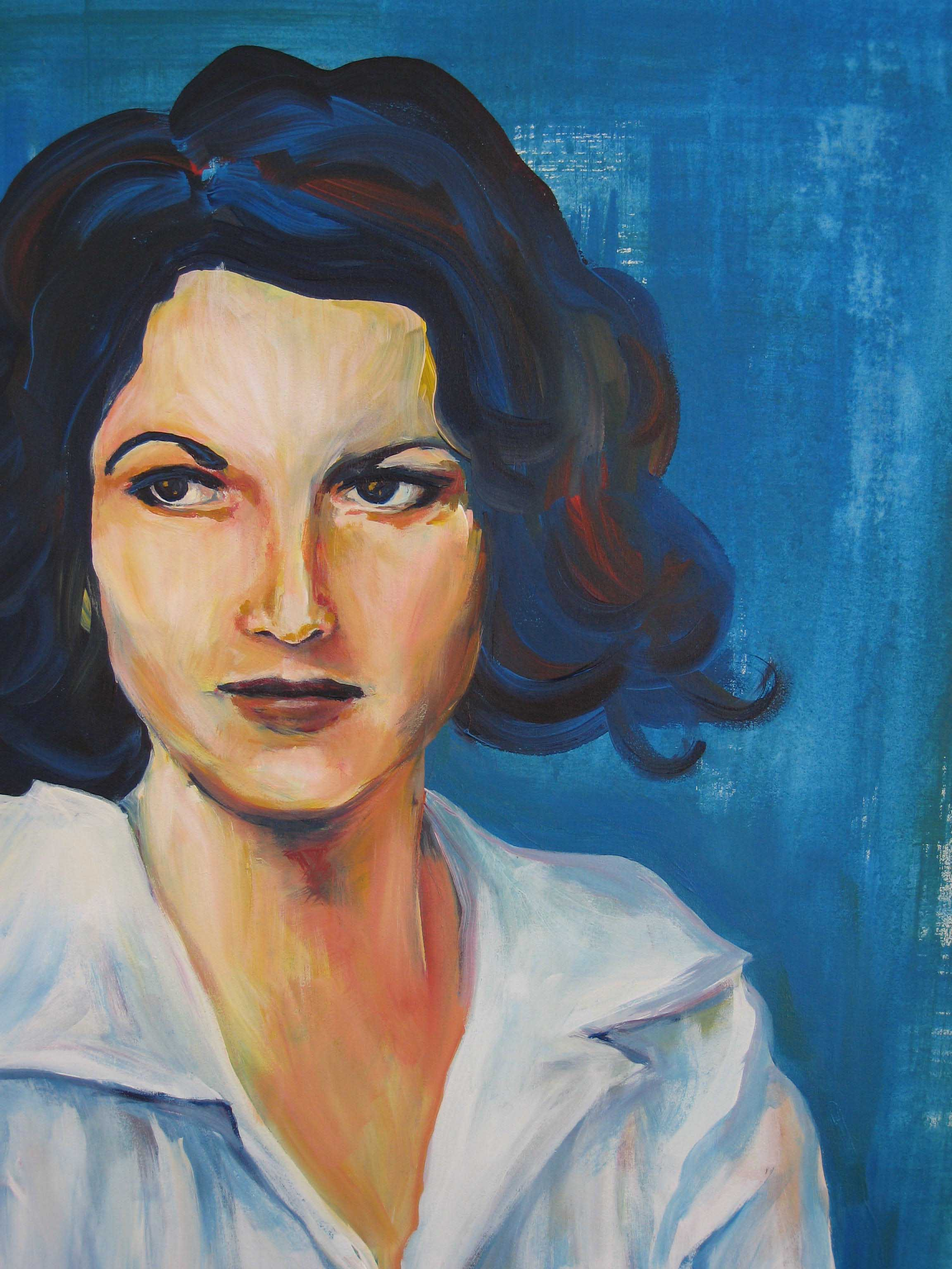 Zelda Fitzgerald,  acrylic on canvas