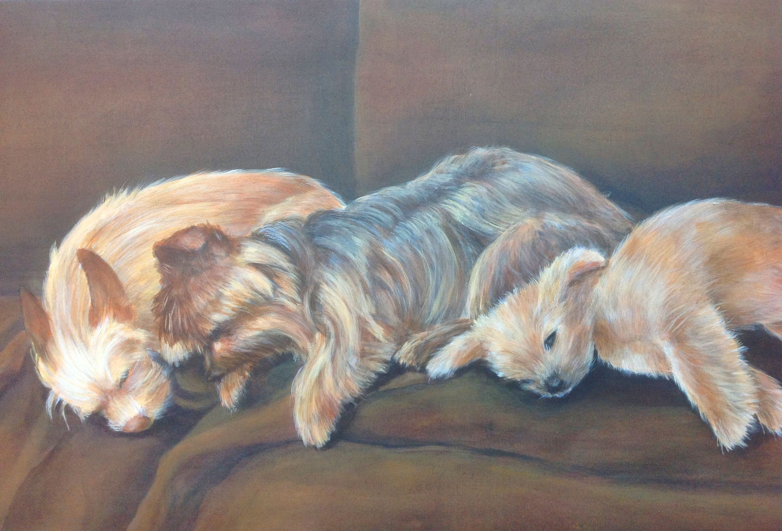 The Bundy dogs,  acrylic on canvas