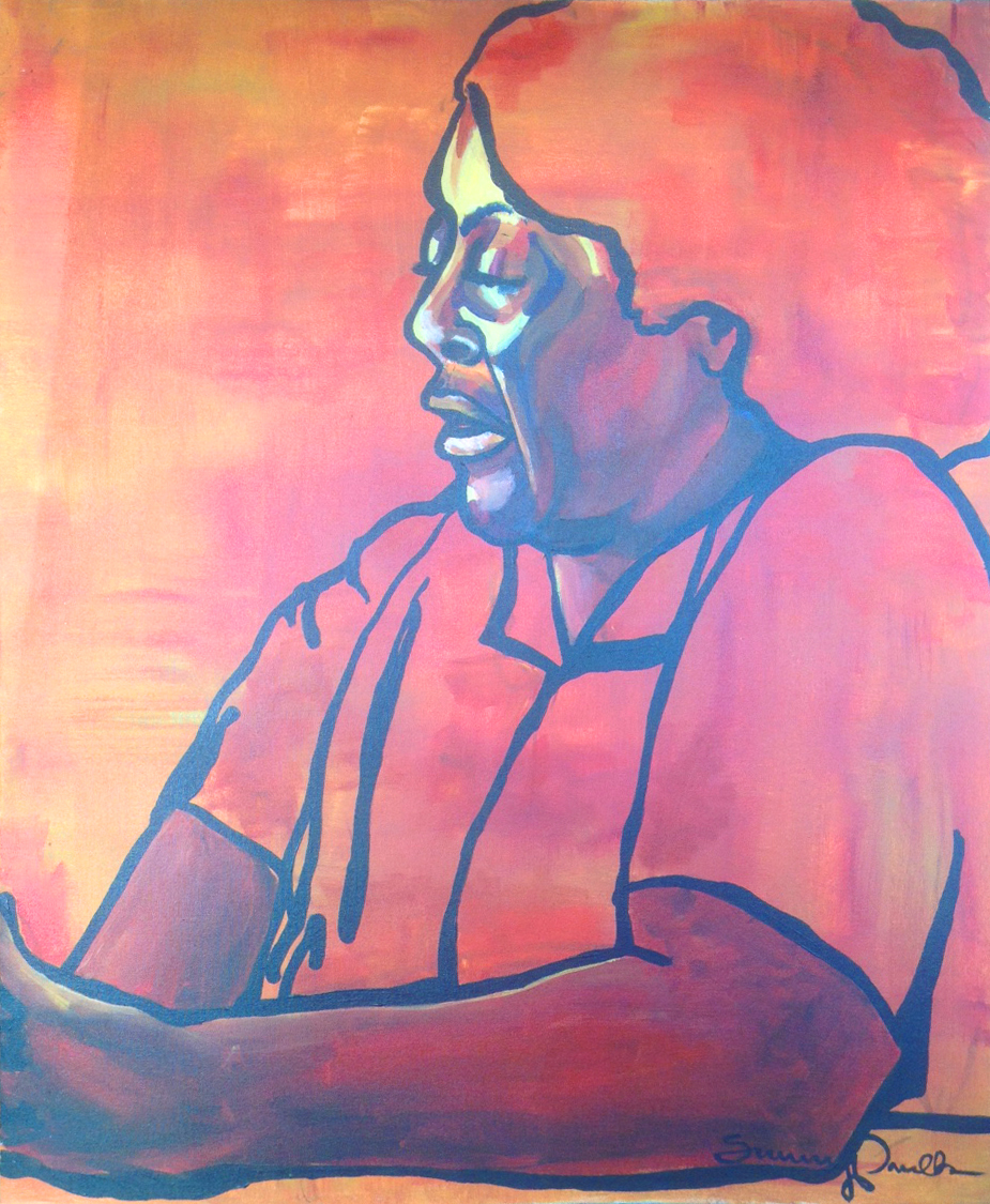 Fannie Lou Hamer,  acrylic on canvas