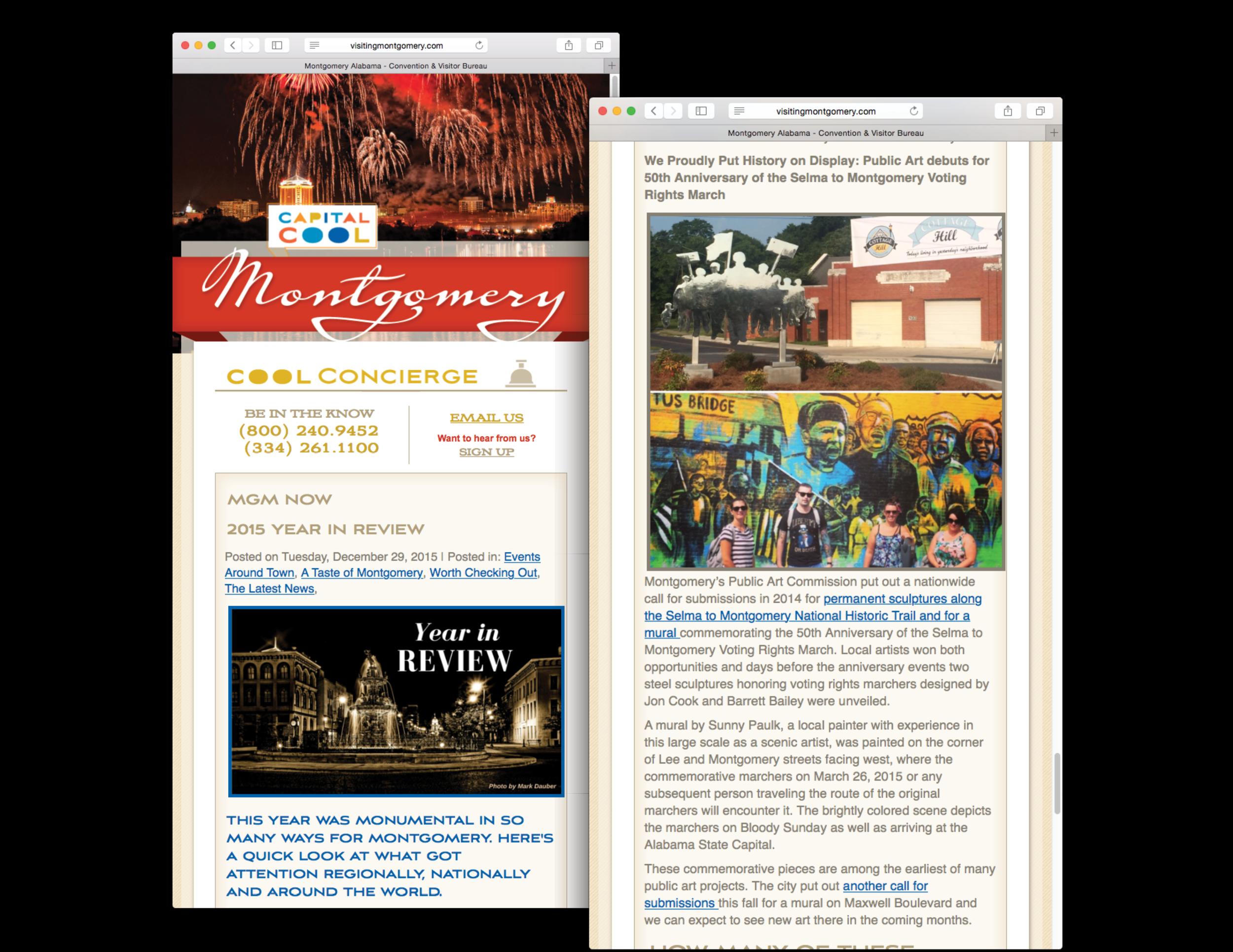 VisitMontgomery.com's 2015 Year in Review, December 29, 2015.