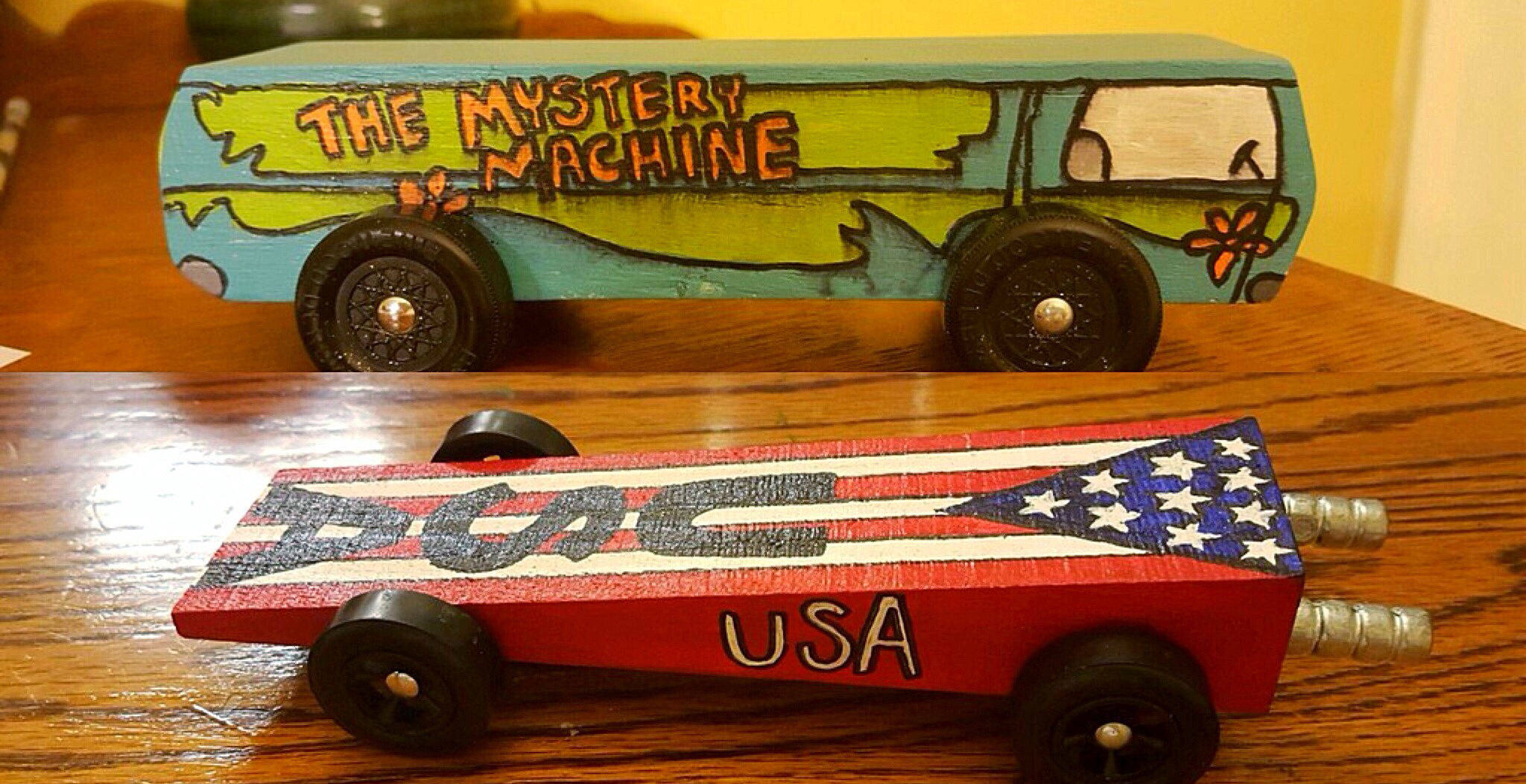 Derby cars for one of my nephews, 2016.
