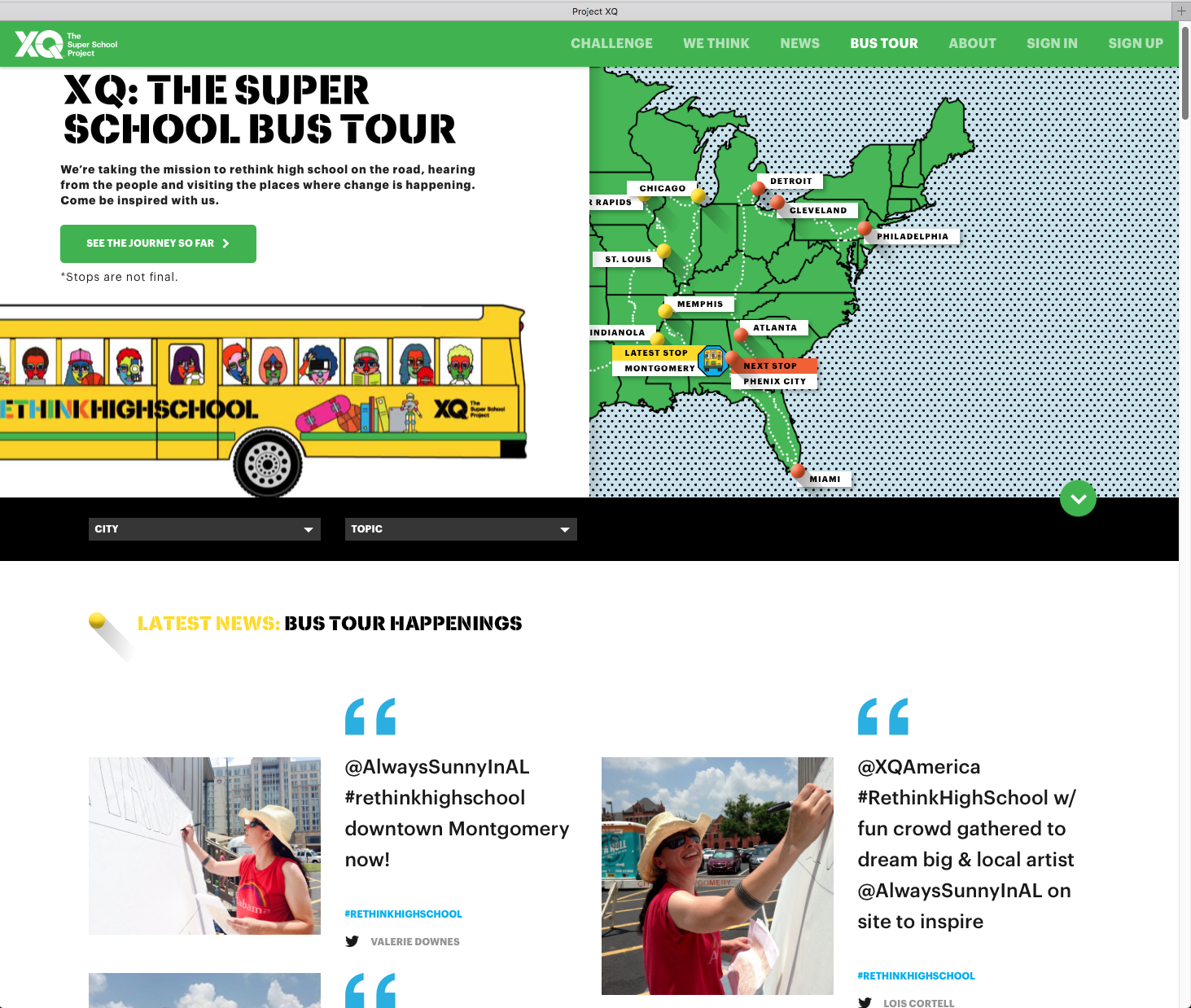XQ America asked me to lead a community art project on their Montgomery, AL and Phenix City, AL Super School Bus stops on 6/17/16 and 6/21/16!