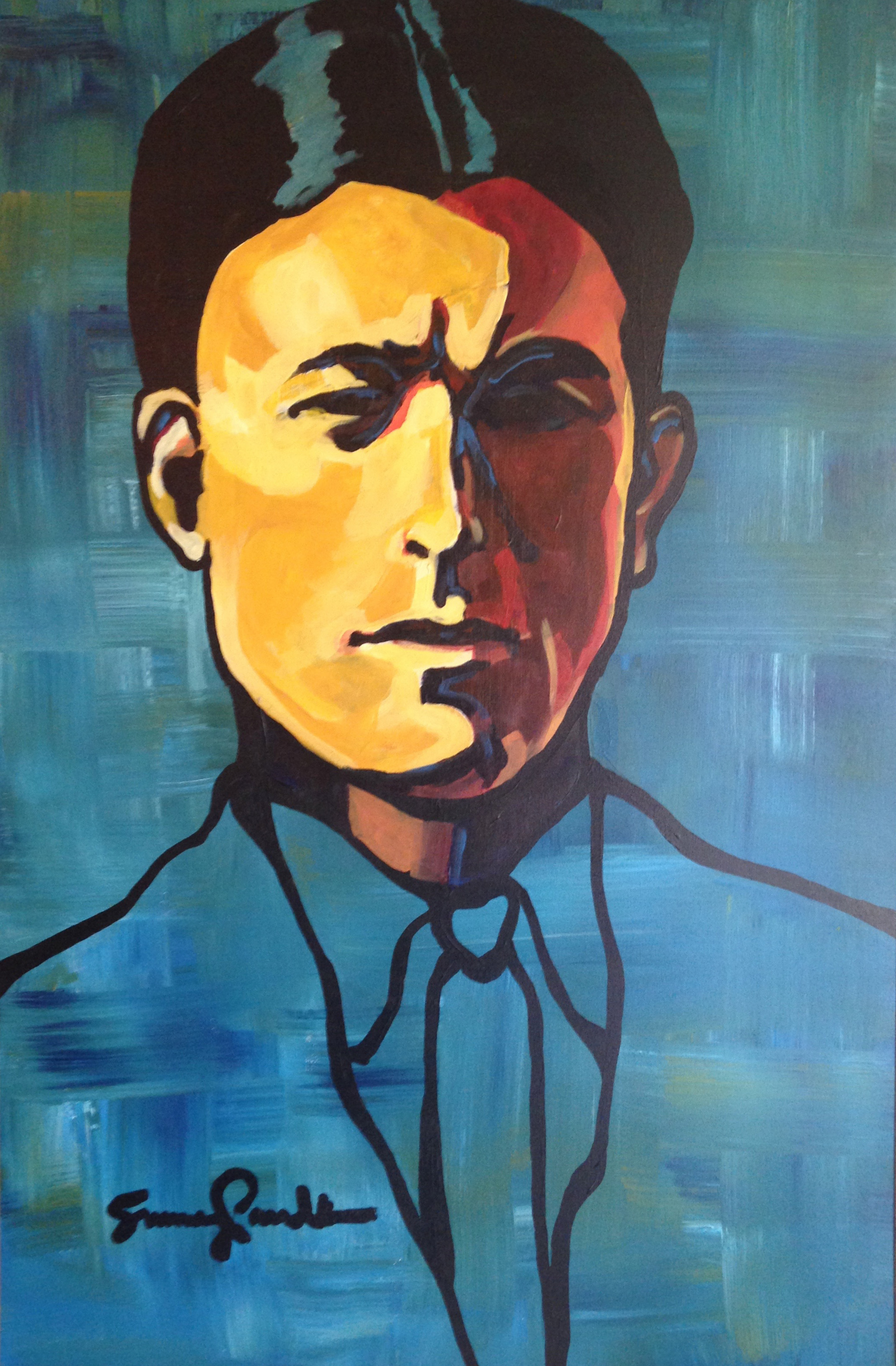 "Emmett Sayre Ford.  Acrylic on canvas, 30"" x 40."""