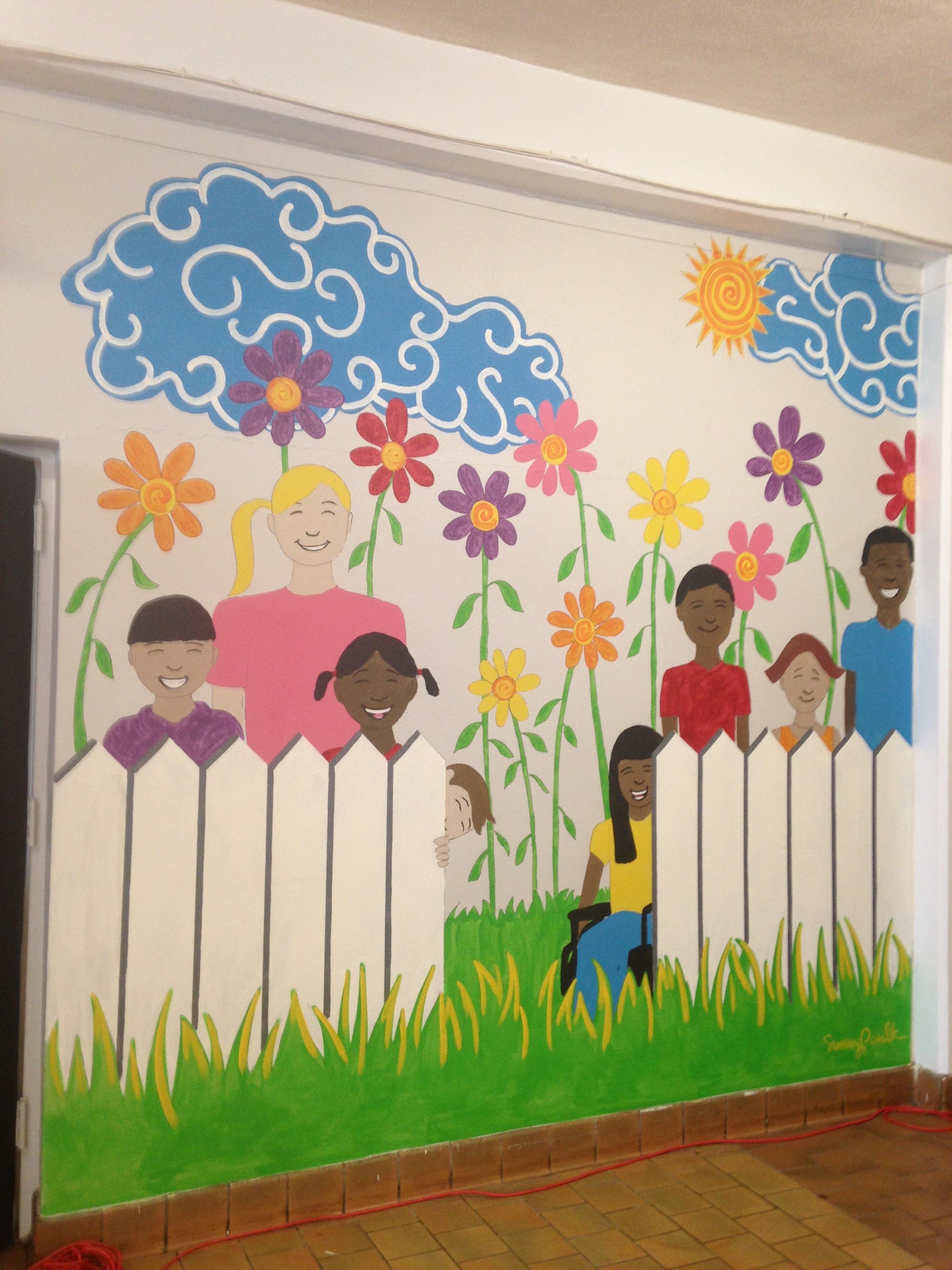 (2/2) mural for Flowers Elementary School, Montgomery, AL. 2017