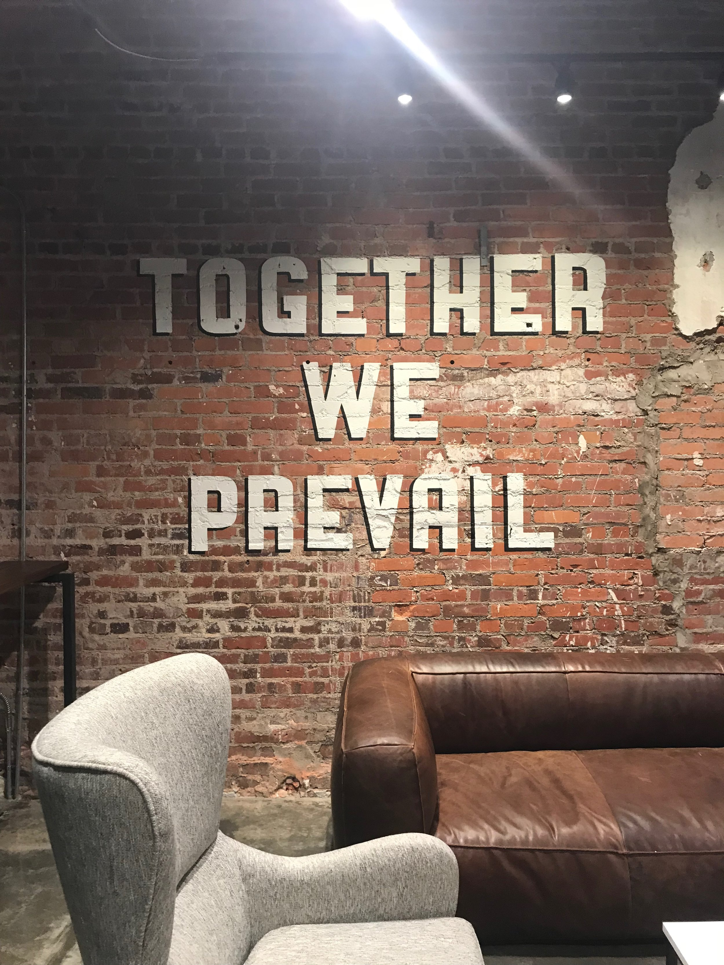 Prevail Union, Kress Building, Montgomery AL, 2018.