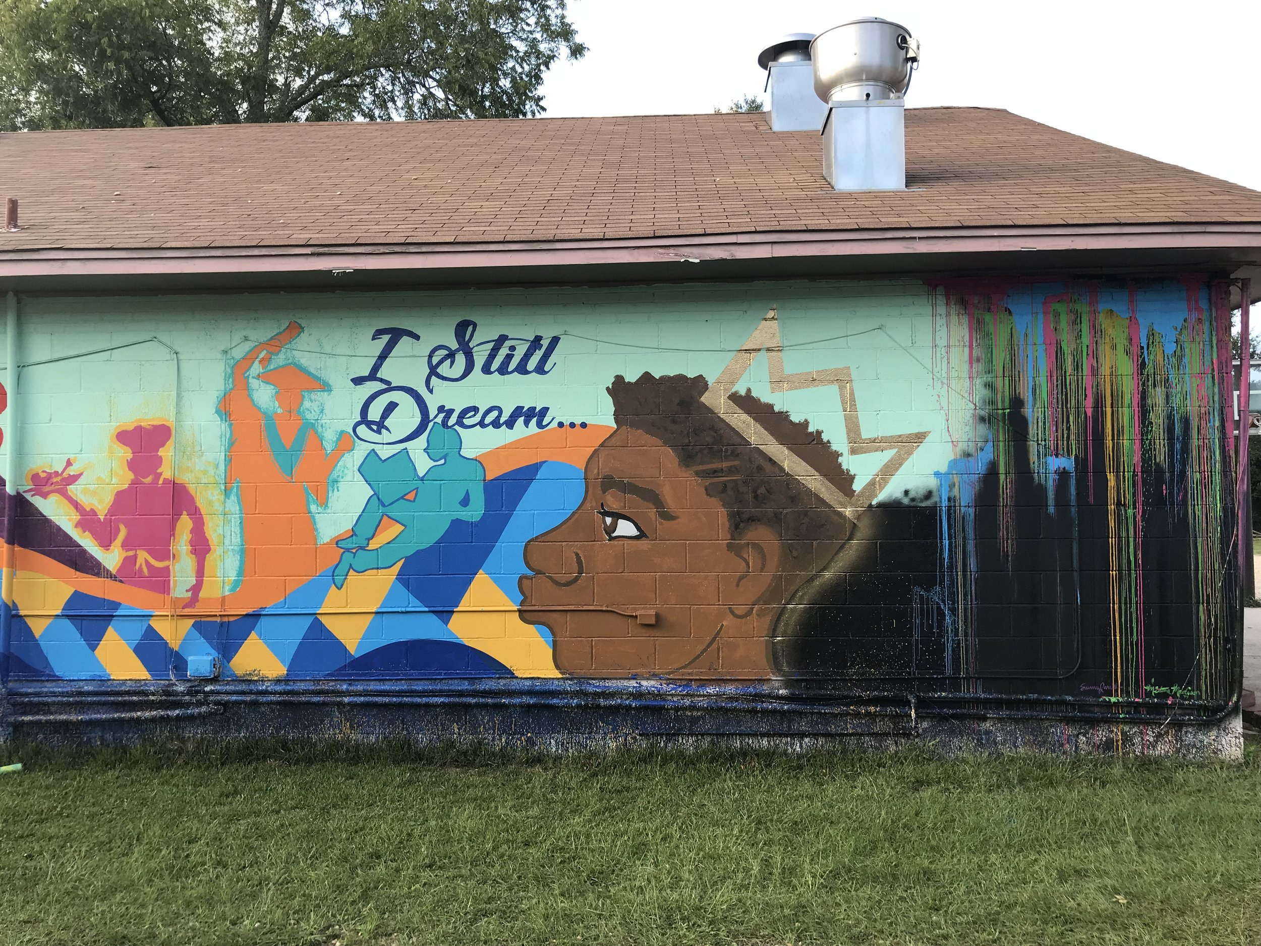 That's My Child mural, Montgomery, AL 2018. Painted with Milton Madison.