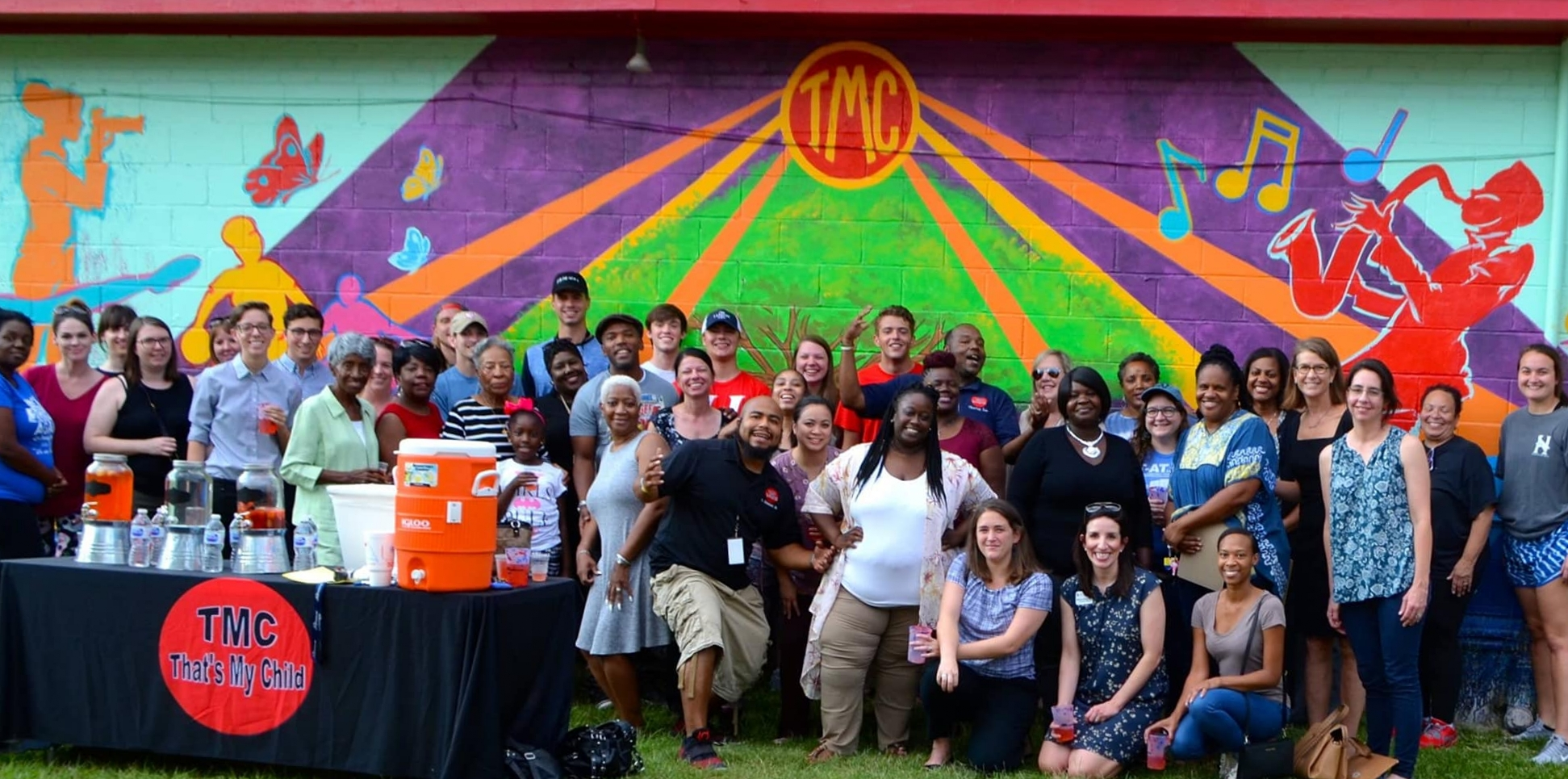 Reveal party for That's My Child mural, Montgomery, AL September 2018. Painted with Milton Madison.