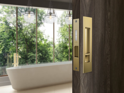 Mardeco Cavity Sliding Door Lock | Satin Brass