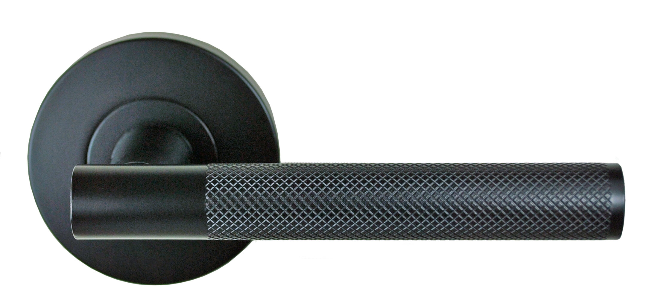 Domici Knurled lever handle – matte black