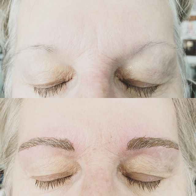 After penciling her eyebrows in for over 10  years she decided to come in for micro blading!  It was so nice to give more them more shape and pull the eyebrows in from being wide and make them fuller &  defined👏🏼❤️#microblading #microbladingeyebrows #eyebrows #beforeandafter #transformation #selfcare #selflove #beauty #tattooist #ladytattooers #portlandmaine #maine #13moonstattoostudio #love #instagram #video #instadaily