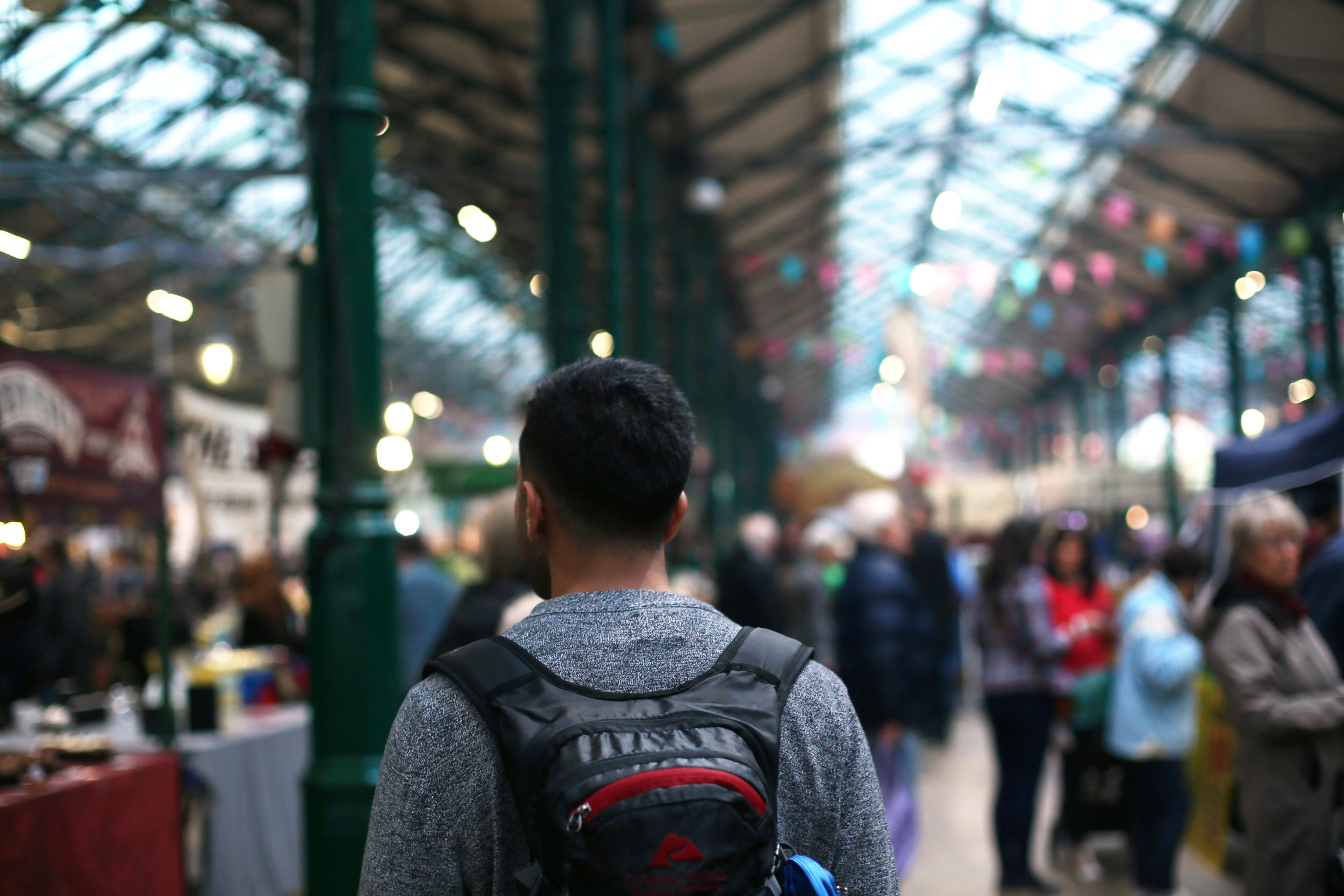 Umar at Saint George's Market in Belfast, Ireland