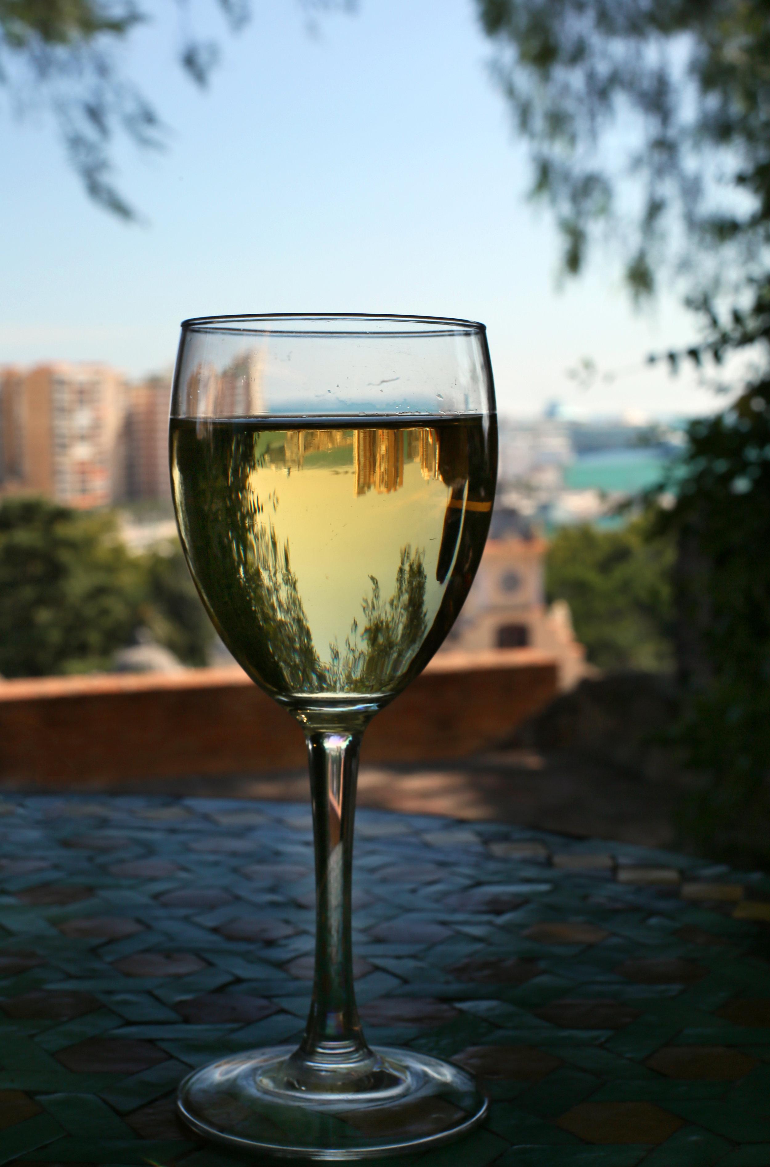 Wine atop Málaga's Alcazaba