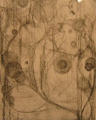 "Catch   (26"" x 34"")   etching"
