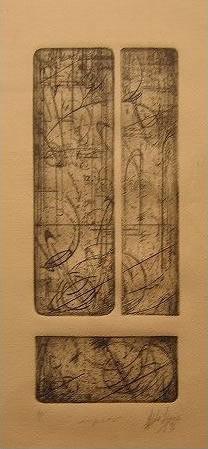 "Improv.   (8"" x 20"")   etching"