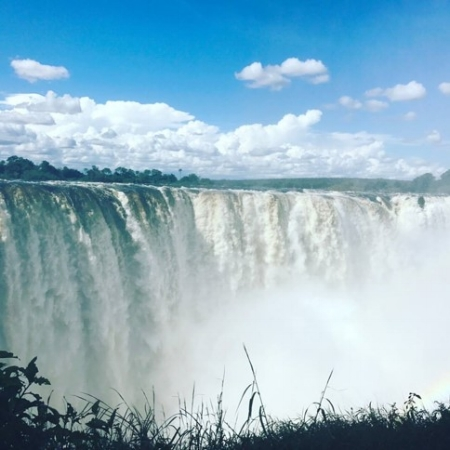 (Another shot of the magnificent Victoria Falls)