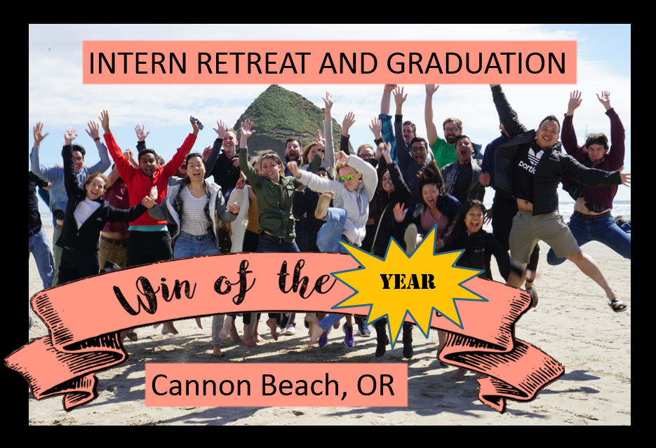 The Interns drove out to beautiful Cannon Beach, where they also were able to reflect on this past year of incredible growth and transformation.