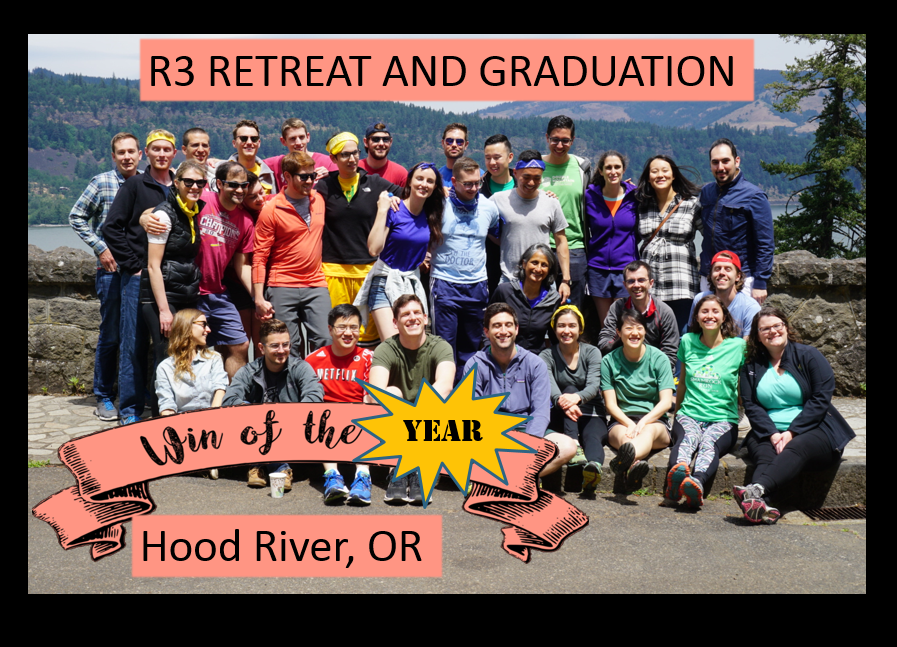 The Residents celebrated with a retreat to the Columbia River Gorge, full of reflection, kickball, and sunshine.