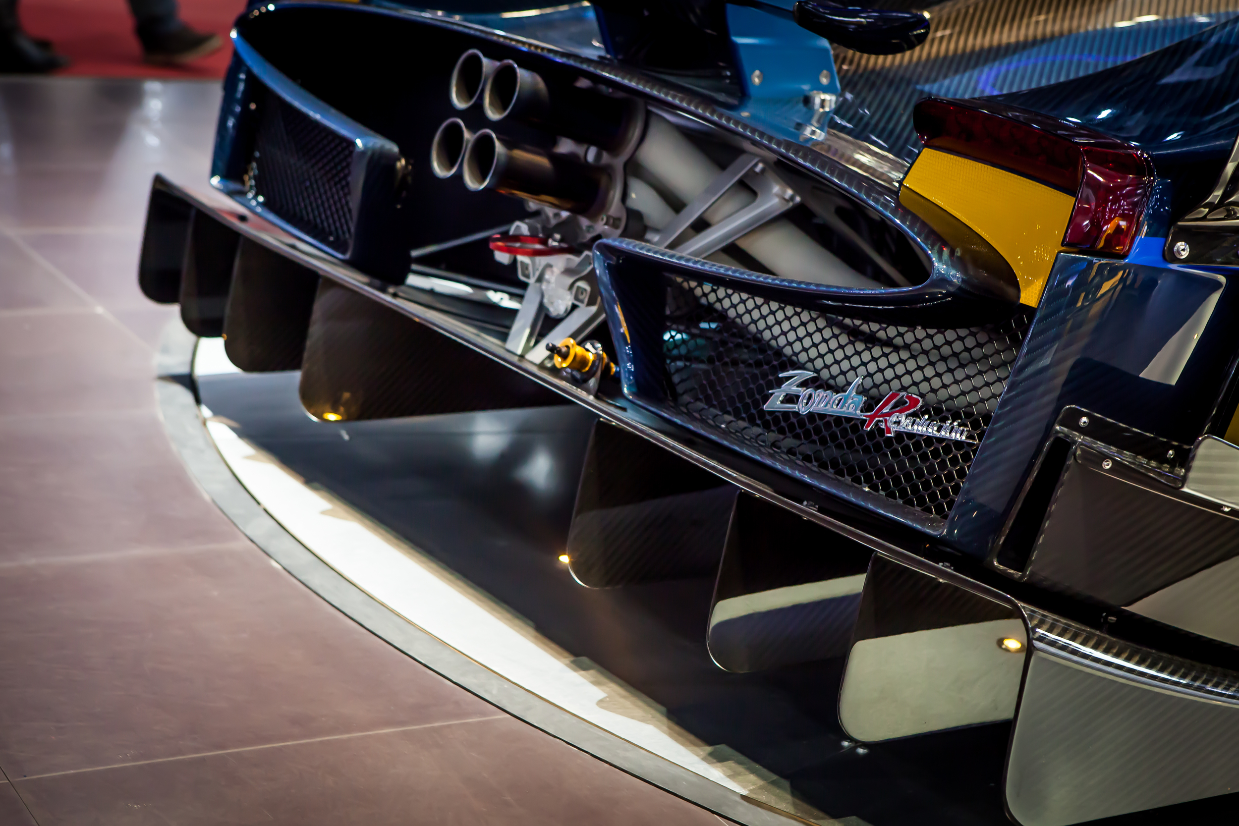 Zonda from the rear. Geneva Motor Show 2014