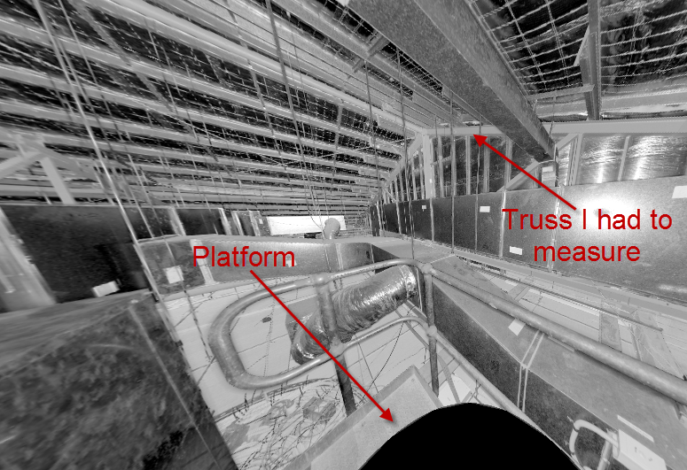 Food store Plant room - shot from a Trimble TX5 scanner