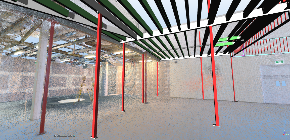 Mezzanine steel work