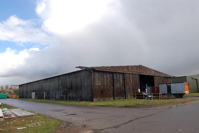 WW2 Bellman Hanger at RAF Stoke Orchard. UK.