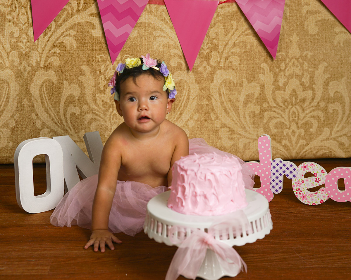 She wasn't real happy about having cake!