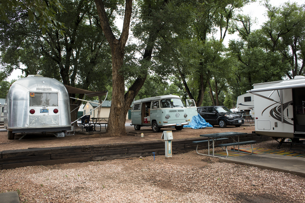 We left Dallas for Colorado Springs, on route to Blaine Washington. We are camping here at the Garden of the Gods Campground.