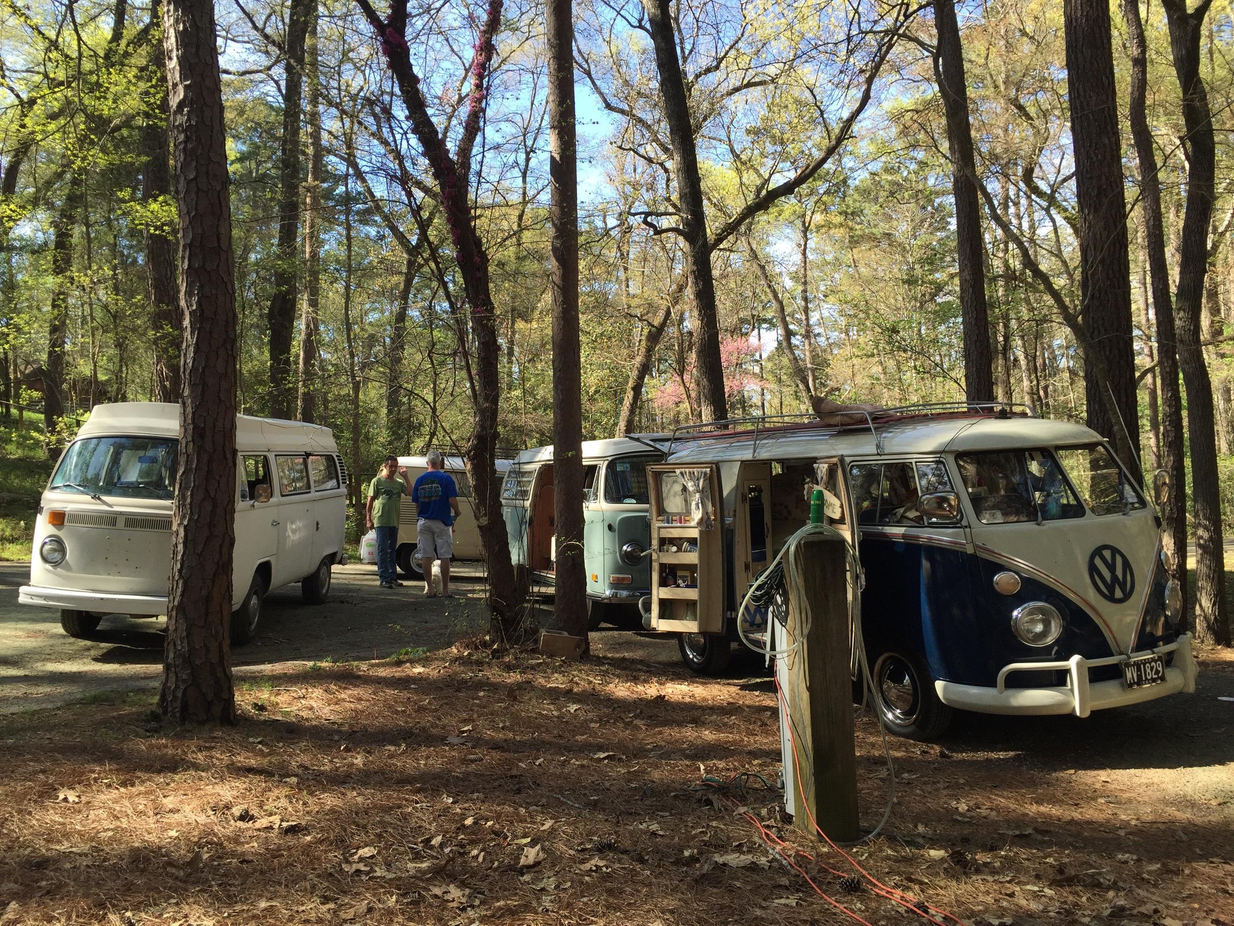 Scott & Julie's 64 Sundial, Kate's 1970 Camper, and Len & Jan's 1978 Riviera