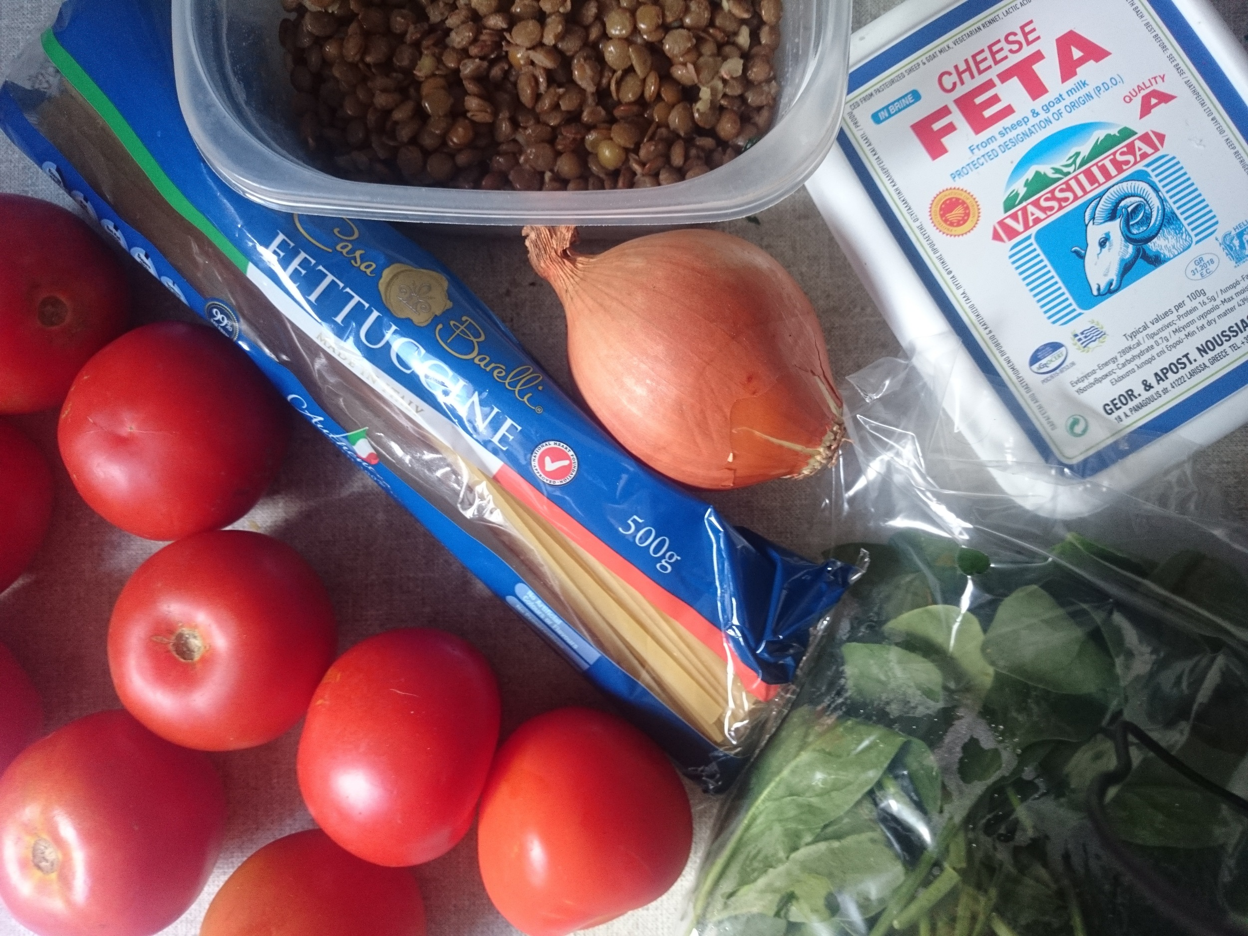 The main ingredients for One Pot Pasta