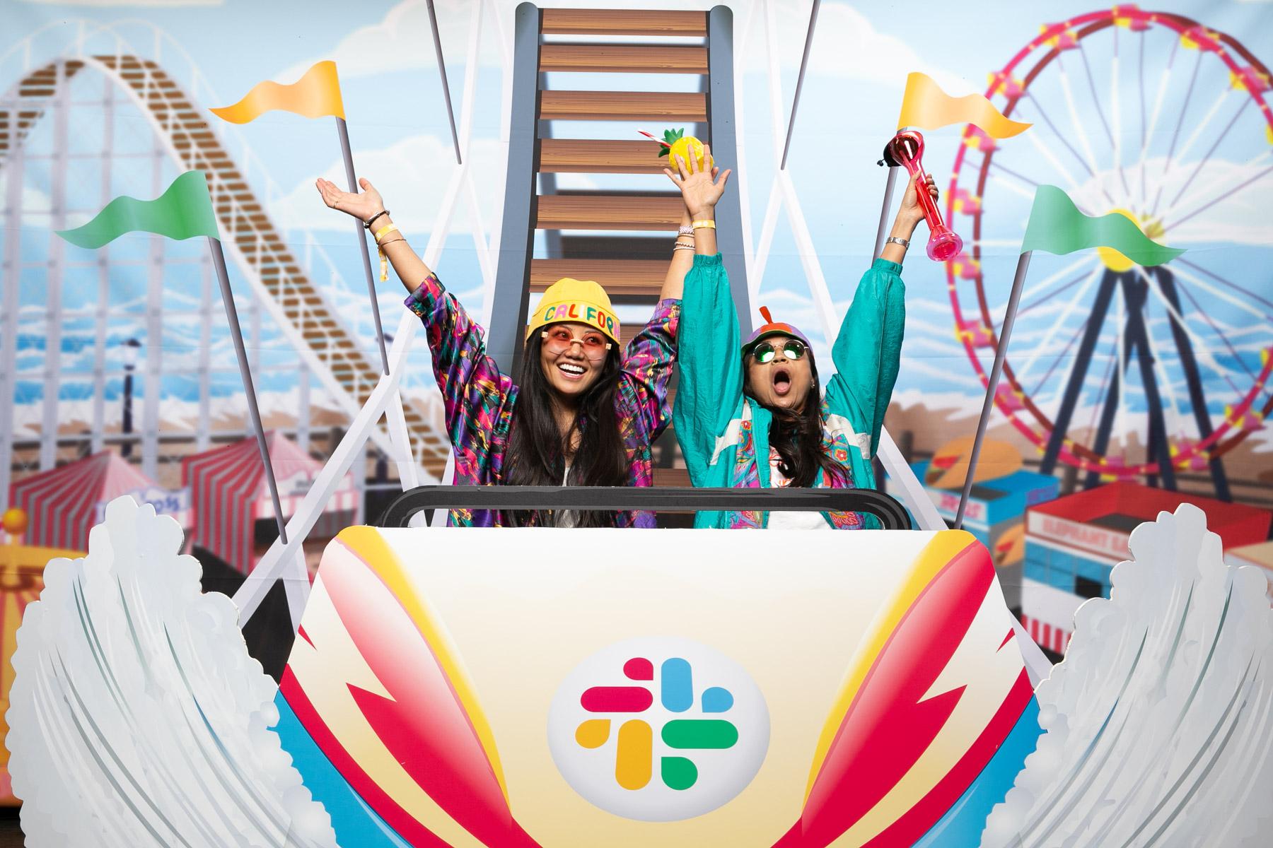 Roller Coaster - Boardwalk roller coaster set for Slack's Santa Cruz boardwalk inspired summer picnic.