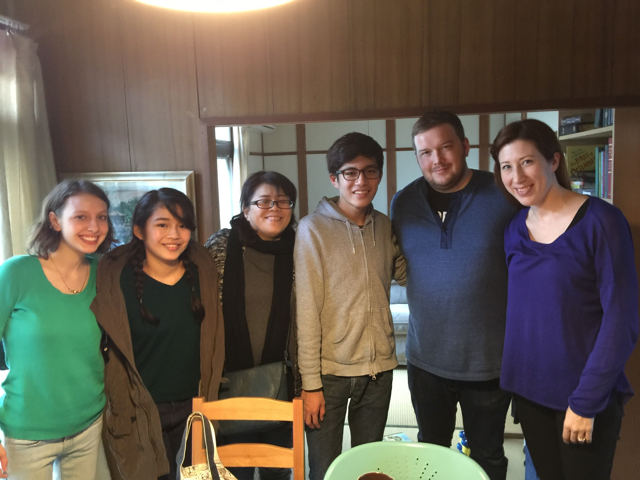 An amazing Japanese family that came over to Joseph and Whitney's cute little Japanese house for tea. Their family is Christian and they even do homeschooling. This is unheard of in Japan.