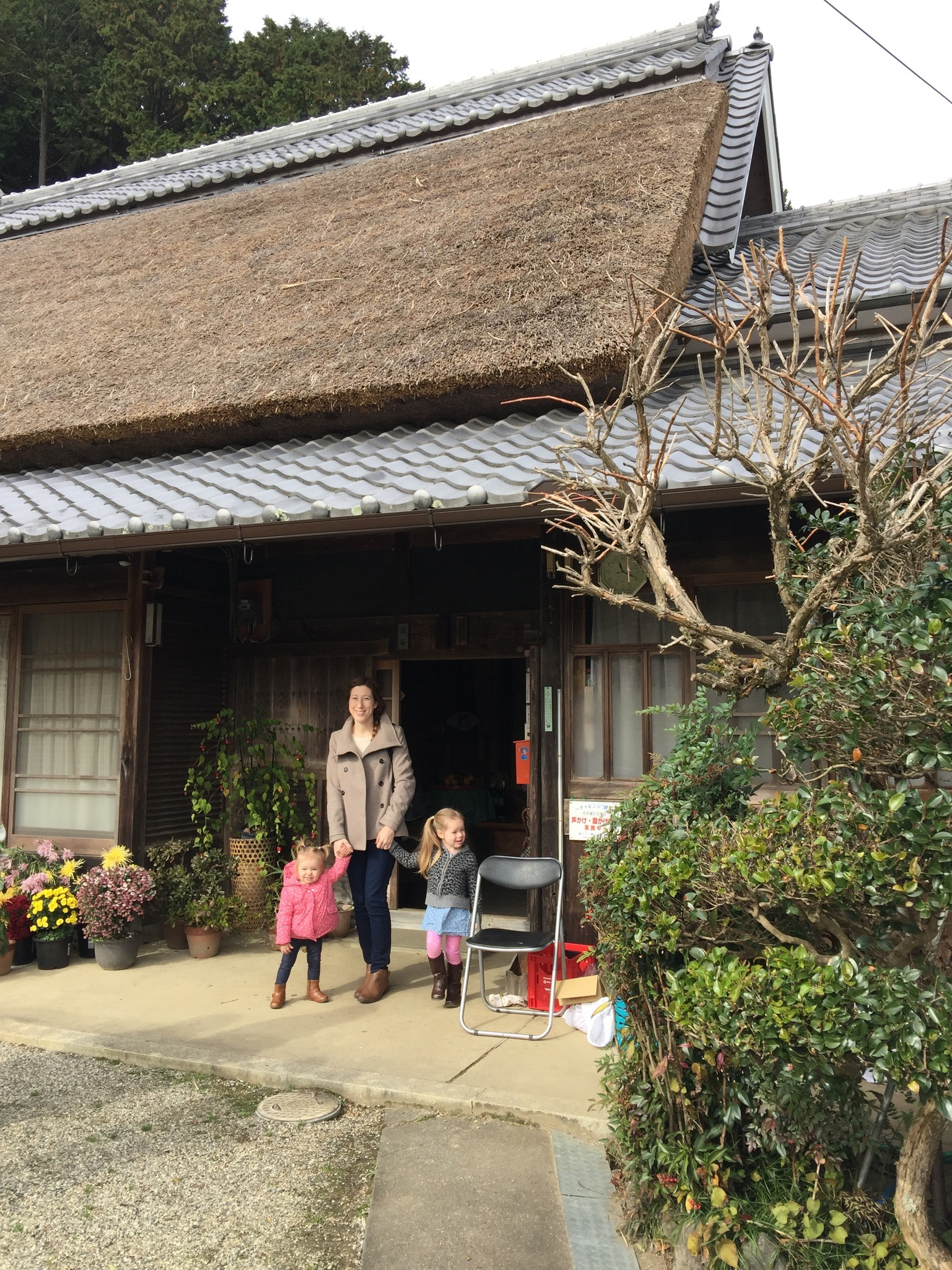 A traditional Japanese home that has been in the same family for 250 years!We were able to have tea here with the family. It has huge wood columns that seemed to have worked out pretty well.