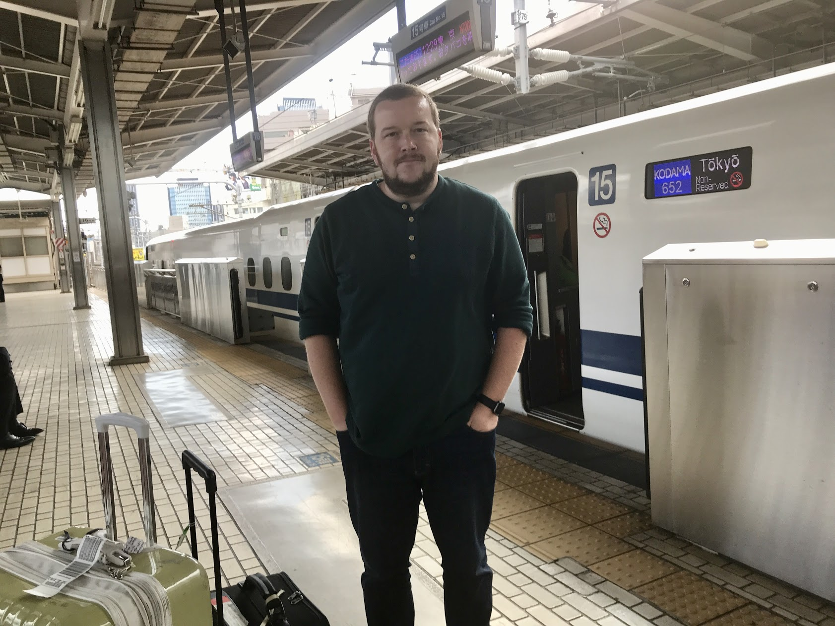 Riding the Japanese bullet train, the Shinkansen! Reaches speeds of 200 mph. Our vision is to see the unreached hear about Jesus for the first time. These trains sure make it easier.