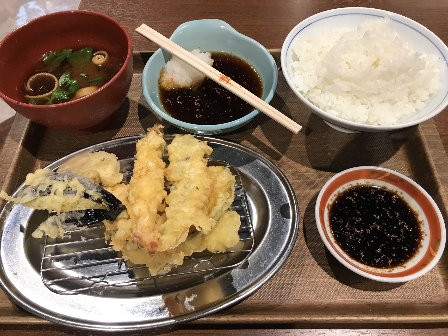 A sampling of Japanese cuisine. Tempura!