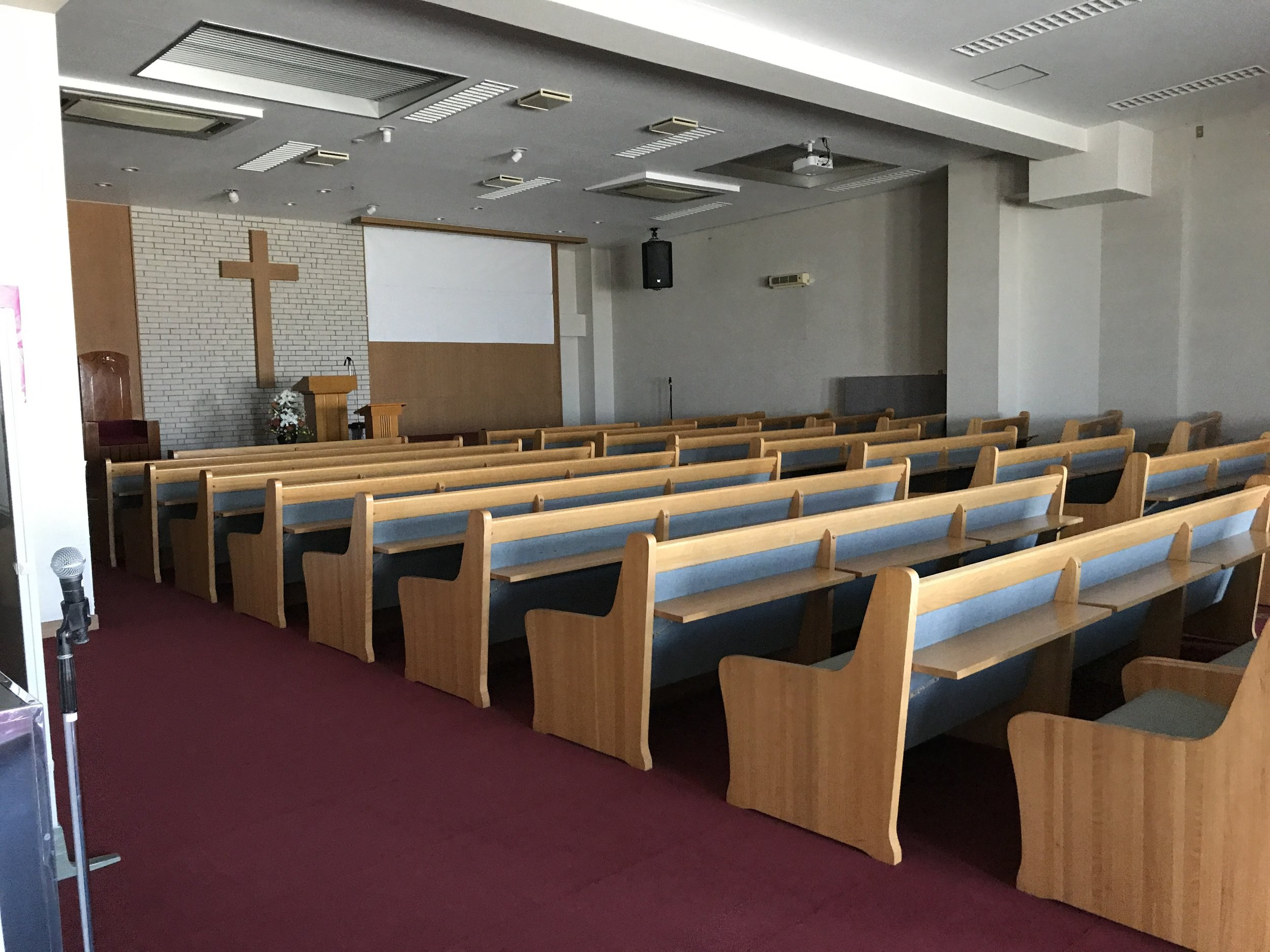 Inside of their church. A mega church for Japan.