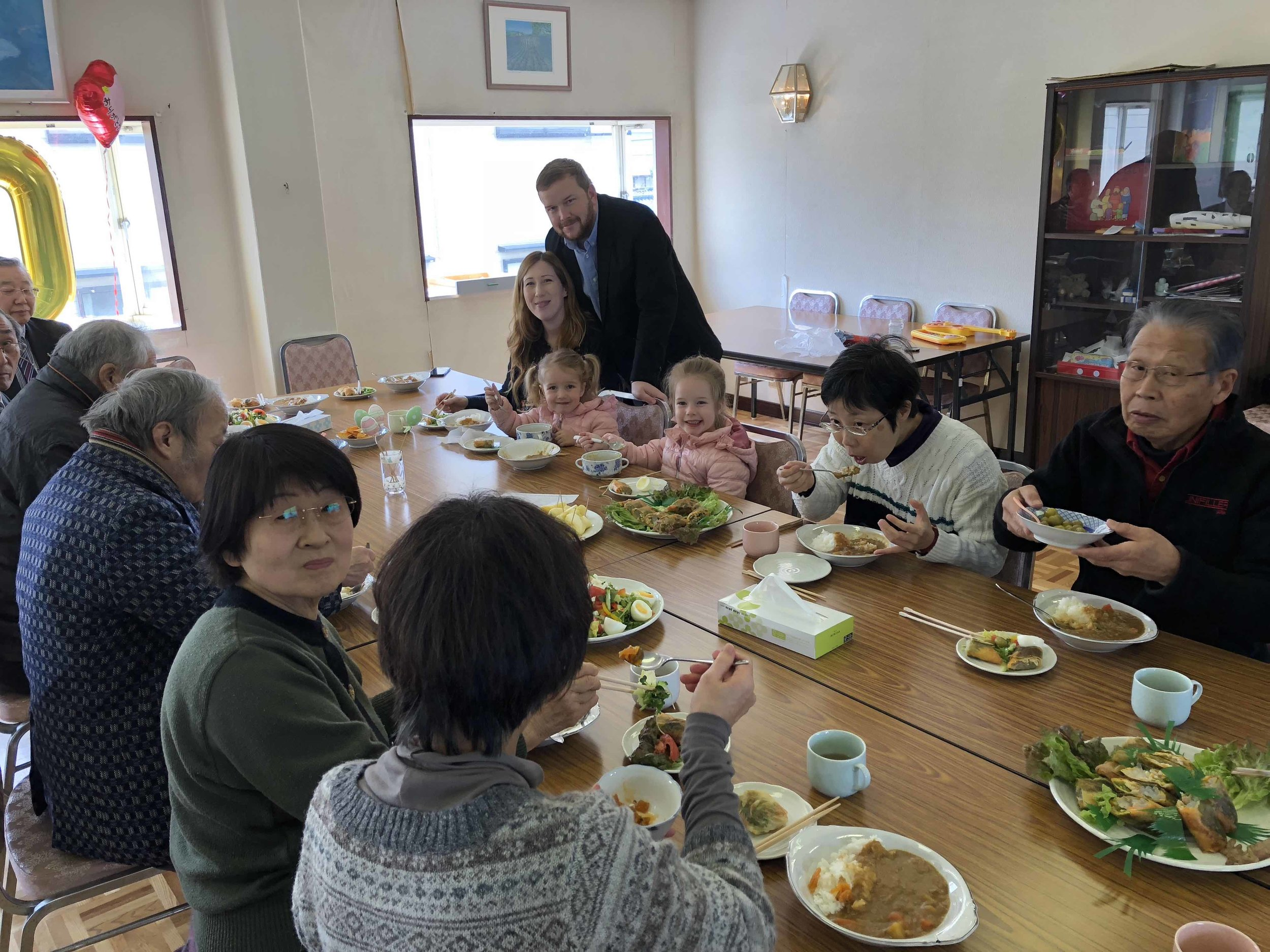 Most churches in Japan share a meal after the service. We enjoy the weekly fellowship of these faithful saints!