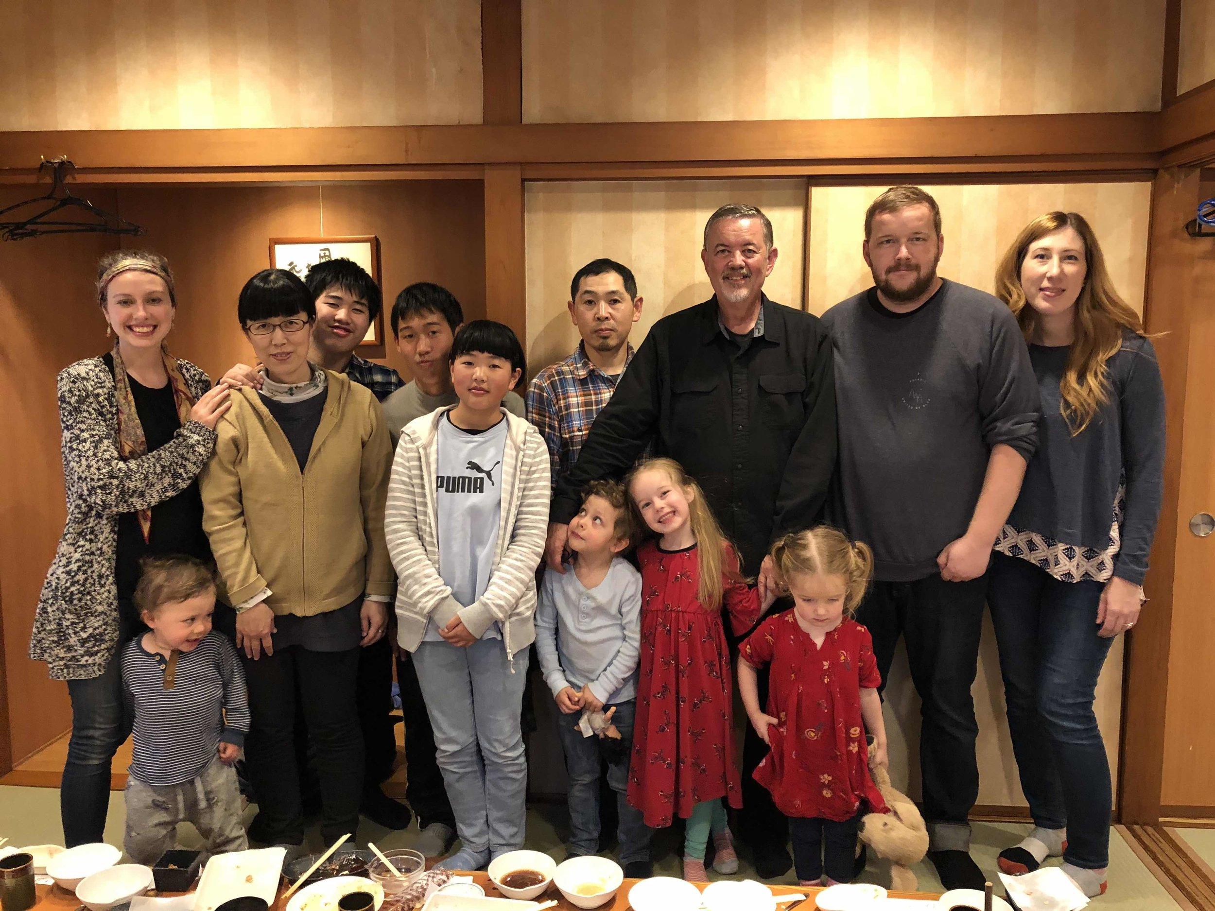 Thankful for the Cathcarts & Pastor Shuzo Ito's family!