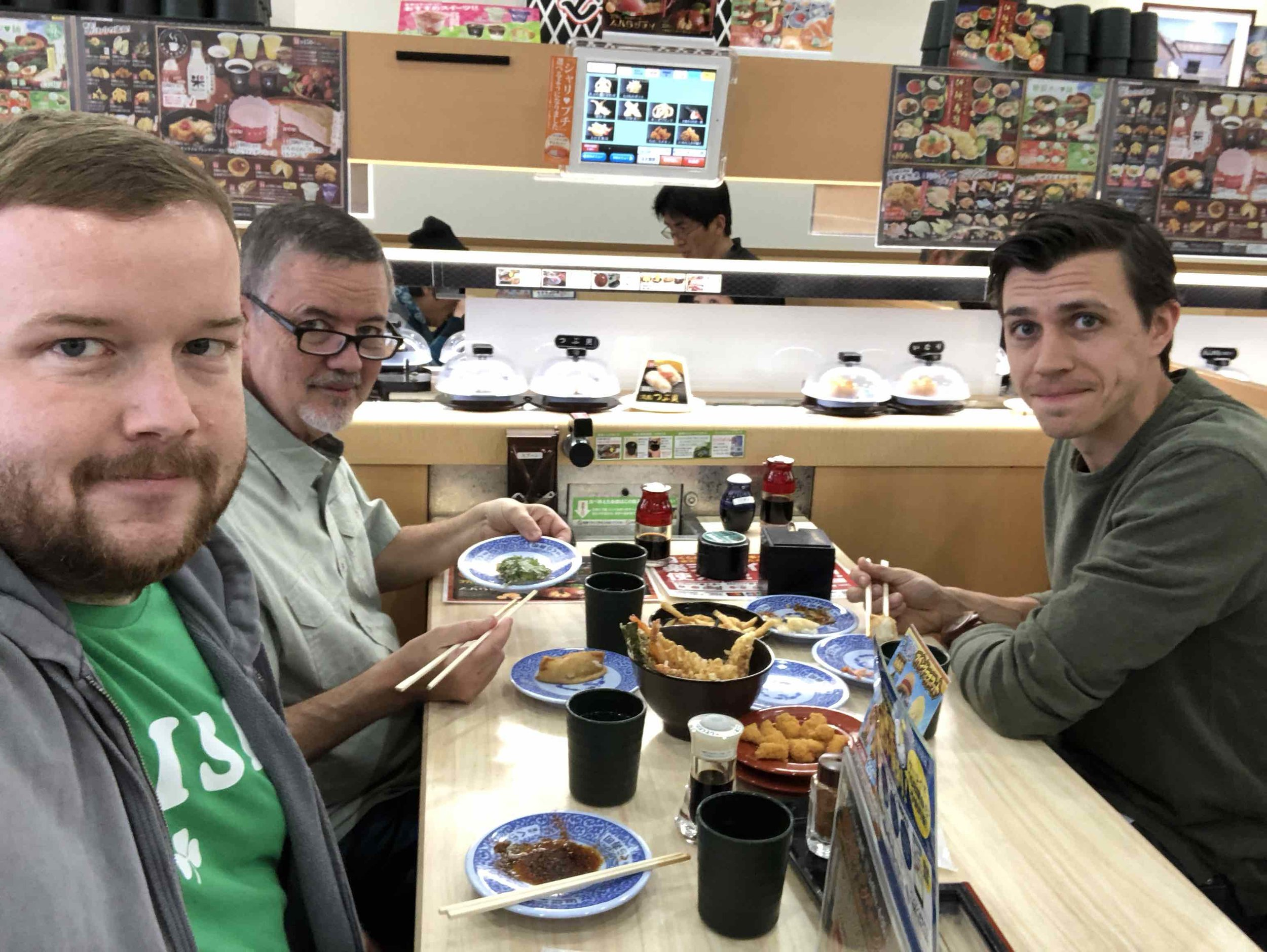 Conveyor belt sushi is one of the best parts about Japan!