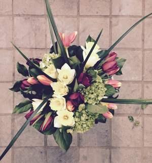 Round hand tied bouquet