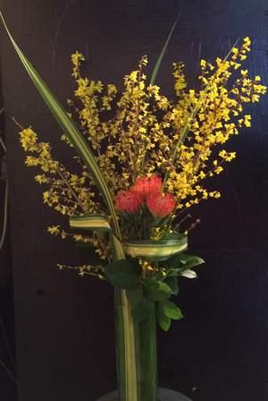 Flower arranegement in vase, Montreal.