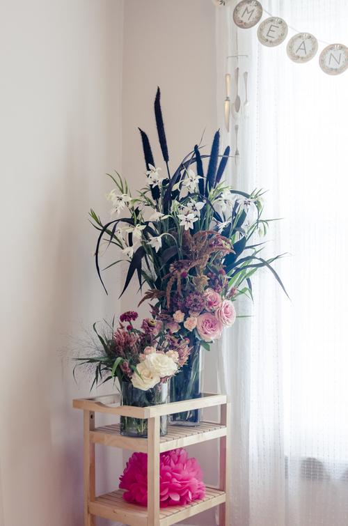 Wild bridal arrangement.