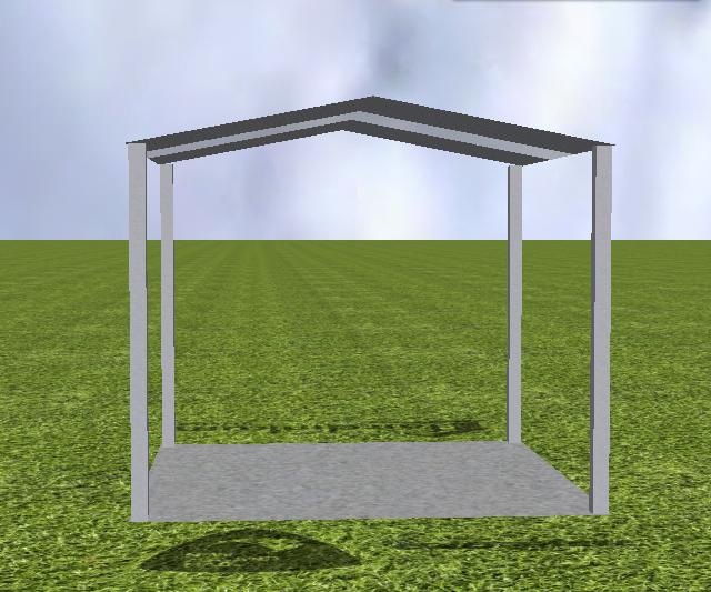 Gable Roof Single Carport
