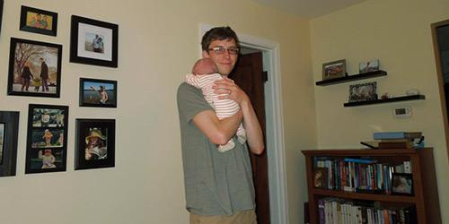 enjoying Fatherhood Holding Our Second Son