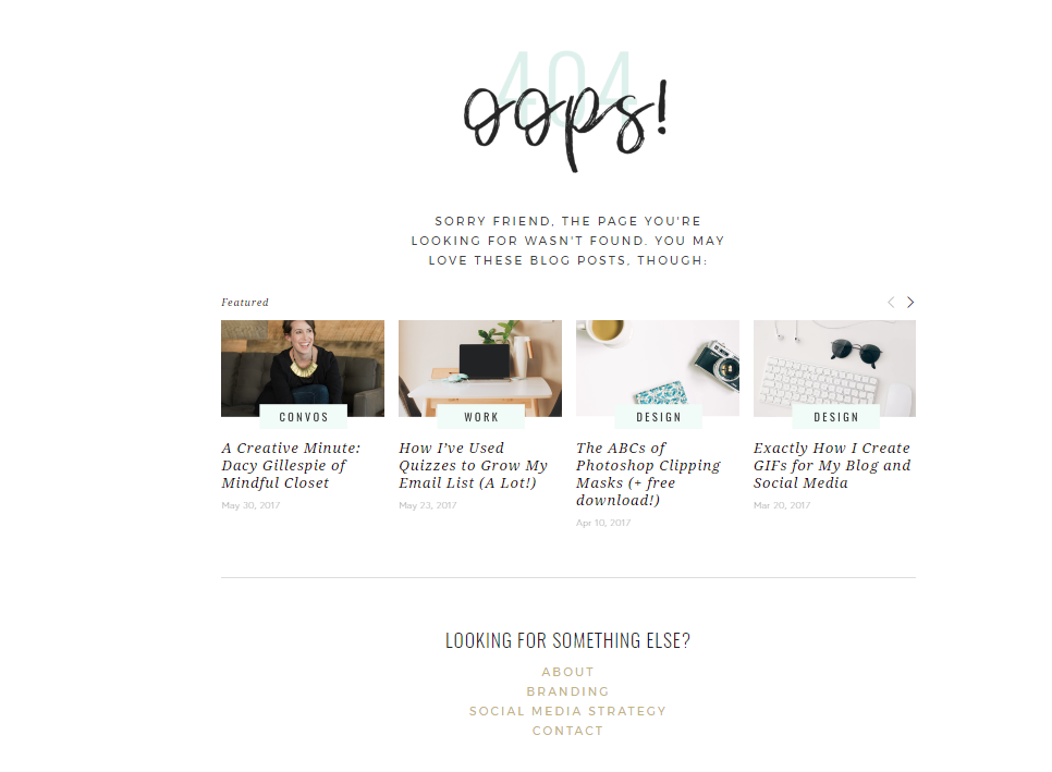 How to design your 404 error page