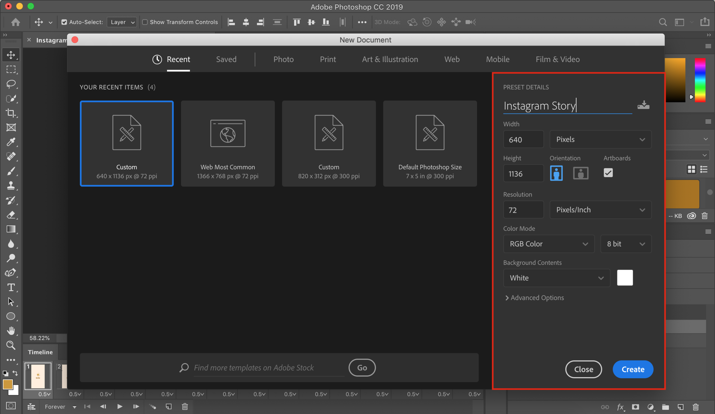 How to Animate Instagram Stories in Photoshop