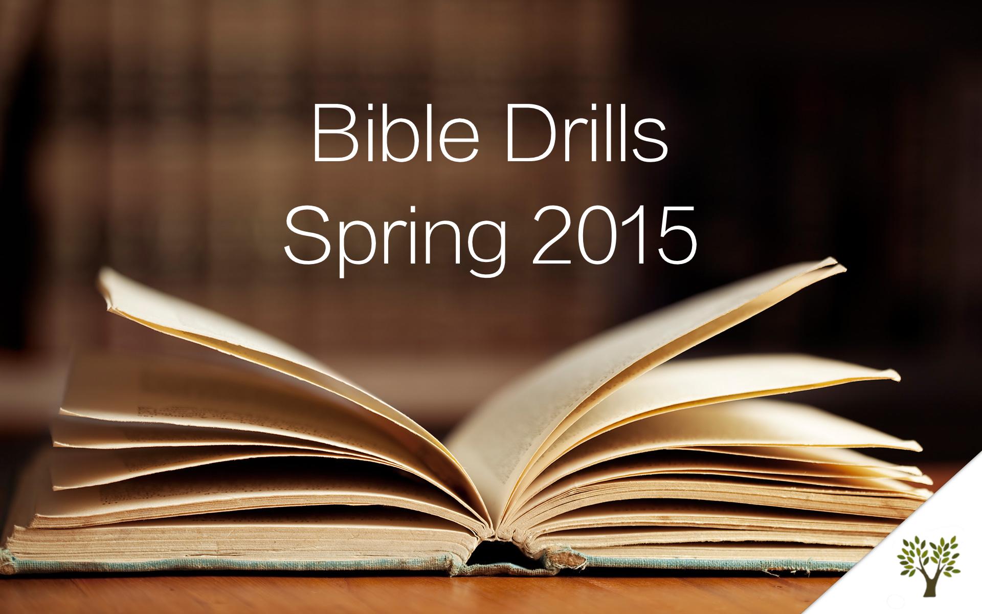 Bible Drills - Spring 2015