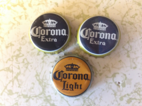 Beer bottle caps circa 2000 - 2002 found in my glovebox. Statute of limitations?
