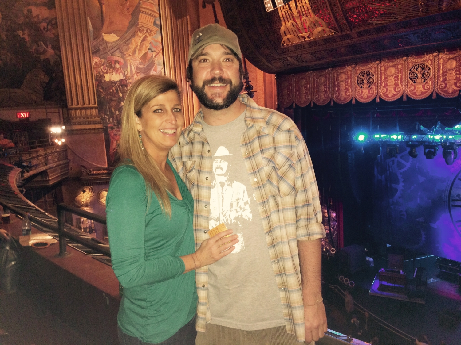 Drifter Merch owners Lorrie and Bert Griggs catching the final three Allman Brothers shows at The Beacon Theatre.
